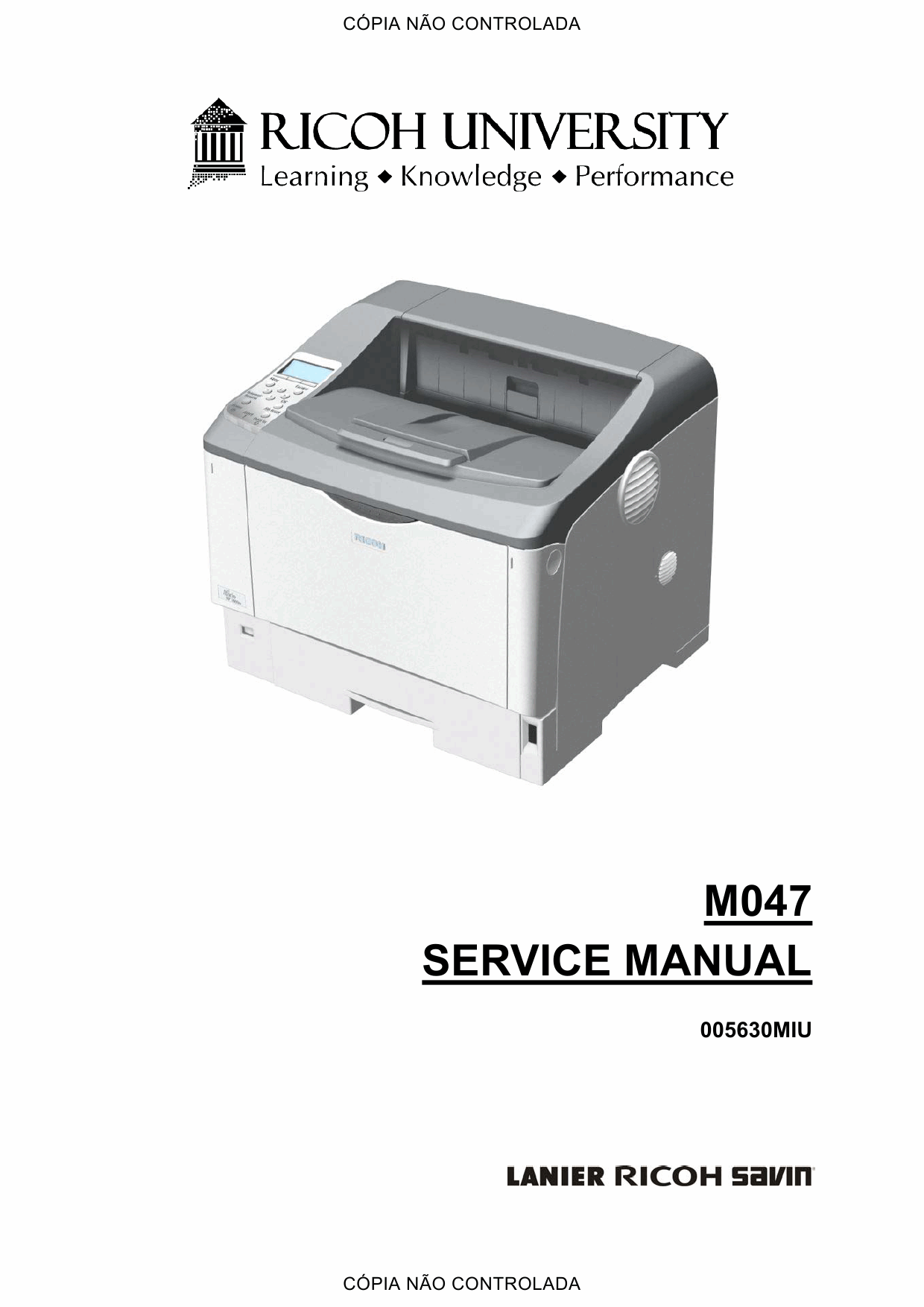 RICOH Aficio SP-6330N M047 Service Manual-1